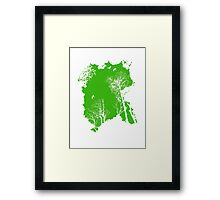 Forest Silhouette in Green Framed Print