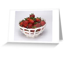 Strawberries in an Eatable Bowl Greeting Card