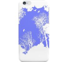 Forest Silhouette in Sky Blue iPhone Case/Skin