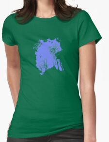 Forest Silhouette in Sky Blue T-Shirt