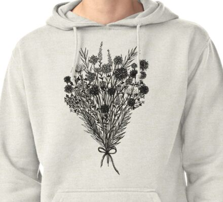 Bouquet Drawing - 12.8.16 Pullover Hoodie