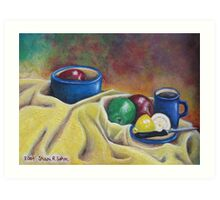 Fruit and Coffee Art Print