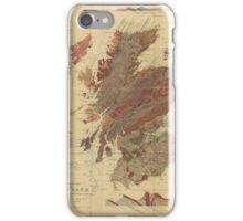 Vintage Geological Map of Scotland iPhone Case/Skin