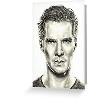 Study of Benedict Cumberbatch Greeting Card