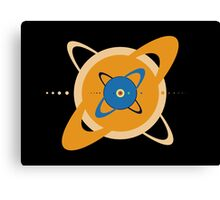 Solar System To Scale - Concentric Canvas Print