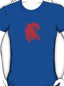 Forest Silhouette in Light Bright Red T-Shirt