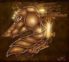 Steampunk Dragonhead by MishMonster