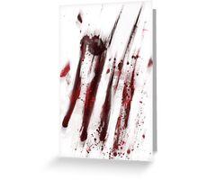 blood of amnesia Greeting Card