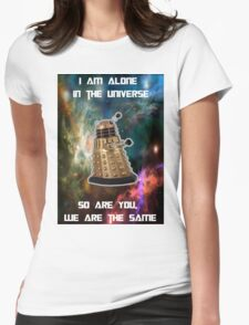 I am alone in the Universe [Nebulosa] Womens Fitted T-Shirt