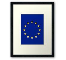 Living EU Flag Framed Print