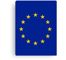 Living EU Flag Canvas Print