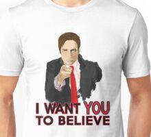 Mulder I Want To Believe Unisex T-Shirt
