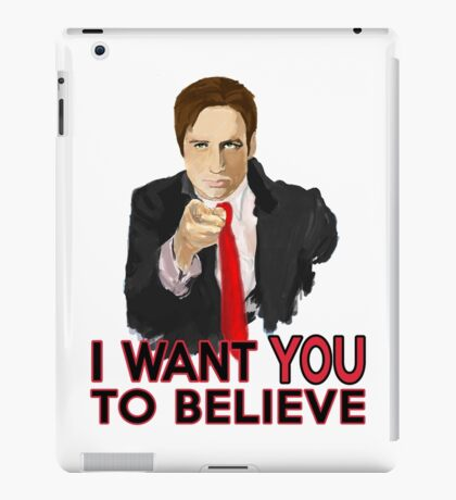 Mulder I Want To Believe iPad Case/Skin