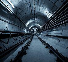 Deep metro tunnel under construction by Anna Váczi