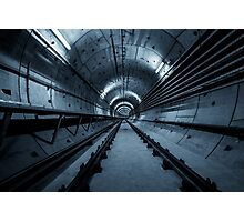 Deep metro tunnel under construction Photographic Print