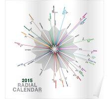 Simple 2015 Radial Calendar Poster