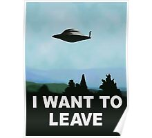 I want to be-leave, x-files poster variation Poster
