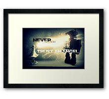 Never trust an Angel Framed Print