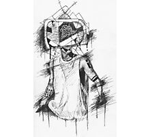 TV Head Clique Art Photographic Print