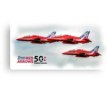 The Red Arrows - 50 Display Seasons Duvets, Cases etc Canvas Print