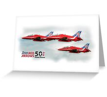 The Red Arrows - 50 Display Seasons Duvets, Cases etc Greeting Card