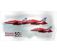 The Red Arrows - 50 Display Seasons Duvets, Cases etc Poster