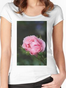 rose in the garden Women's Fitted Scoop T-Shirt