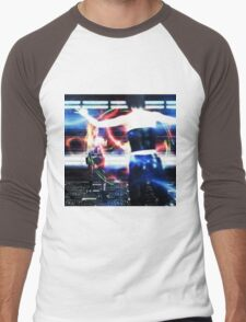 3d woman shooting Men's Baseball ¾ T-Shirt