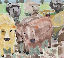 curious cows.  by KBlackmore
