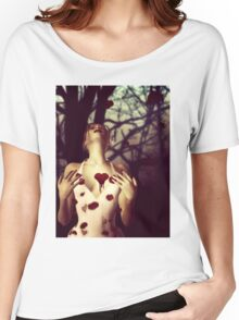 Girl with Bloody Heart Women's Relaxed Fit T-Shirt