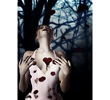 Girl with Bloody Heart 2 Photographic Print