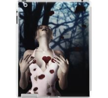 Girl with Bloody Heart 2 iPad Case/Skin