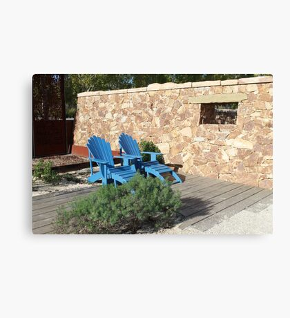 Blue Seat in Sun Canvas Print