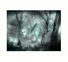 In the dark of the night .. a ghost tale Art Print
