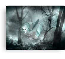 In the dark of the night .. a ghost tale Canvas Print