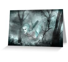 In the dark of the night .. a ghost tale Greeting Card