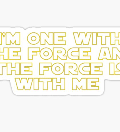 Rogue One - The Force is With Me Star Wars Sticker