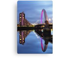 Glasgow Clyde Arc Bridge Reflections Canvas Print