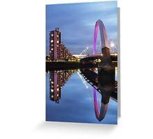 Glasgow Clyde Arc Bridge Reflections Greeting Card