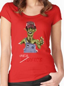 Undead neck Women's Fitted Scoop T-Shirt