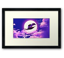 Aladdin and Jasmine Framed Print