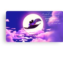 Aladdin and Jasmine Metal Print
