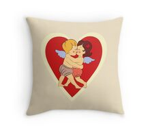 Couple in love vintage design Throw Pillow