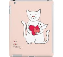 Two lovely cats vintage design iPad Case/Skin