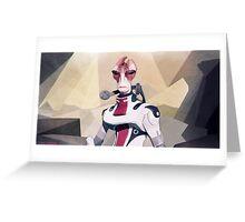 Low Polygon Mordin Solus Greeting Card