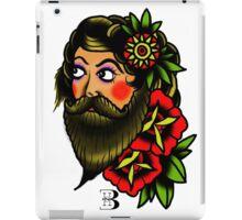 traditional bearded lady iPad Case/Skin