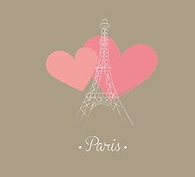 Paris France vintage design by vinainna