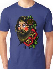traditional bearded lady Unisex T-Shirt