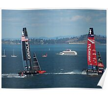 The America's Cup was a close race..... Poster