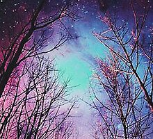 galaxy and trees by Angelr0se